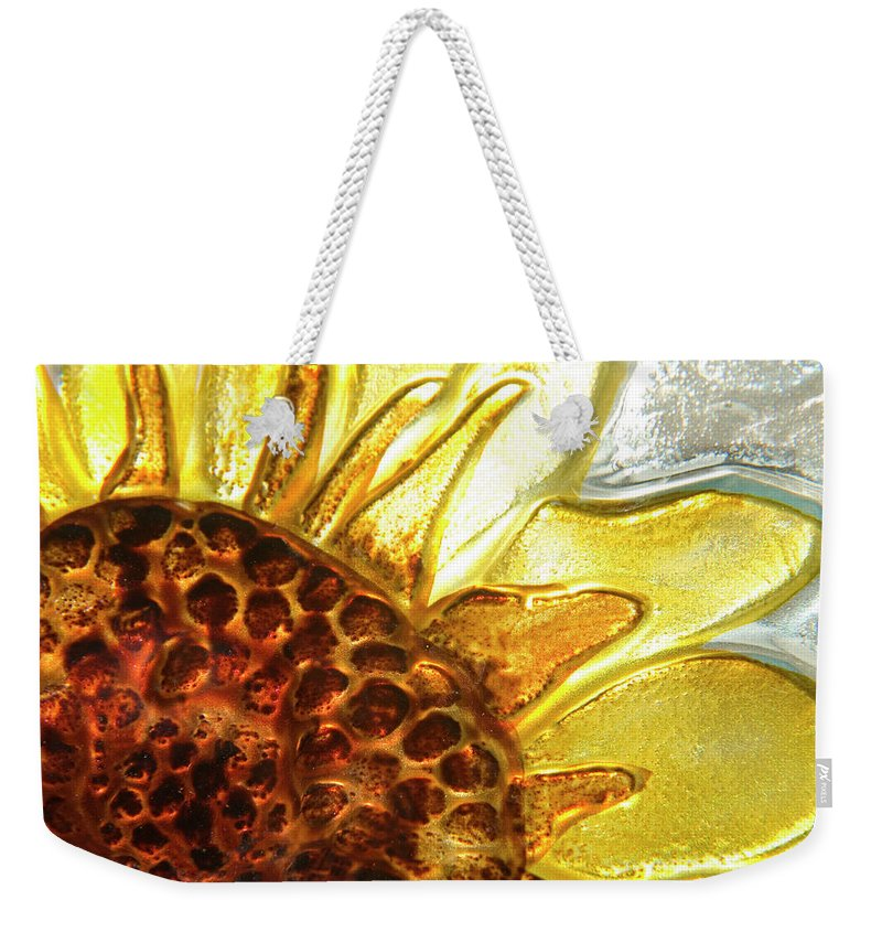 Sun Weekender Tote Bag featuring the photograph Sunburst Sunflower by Jerry McElroy