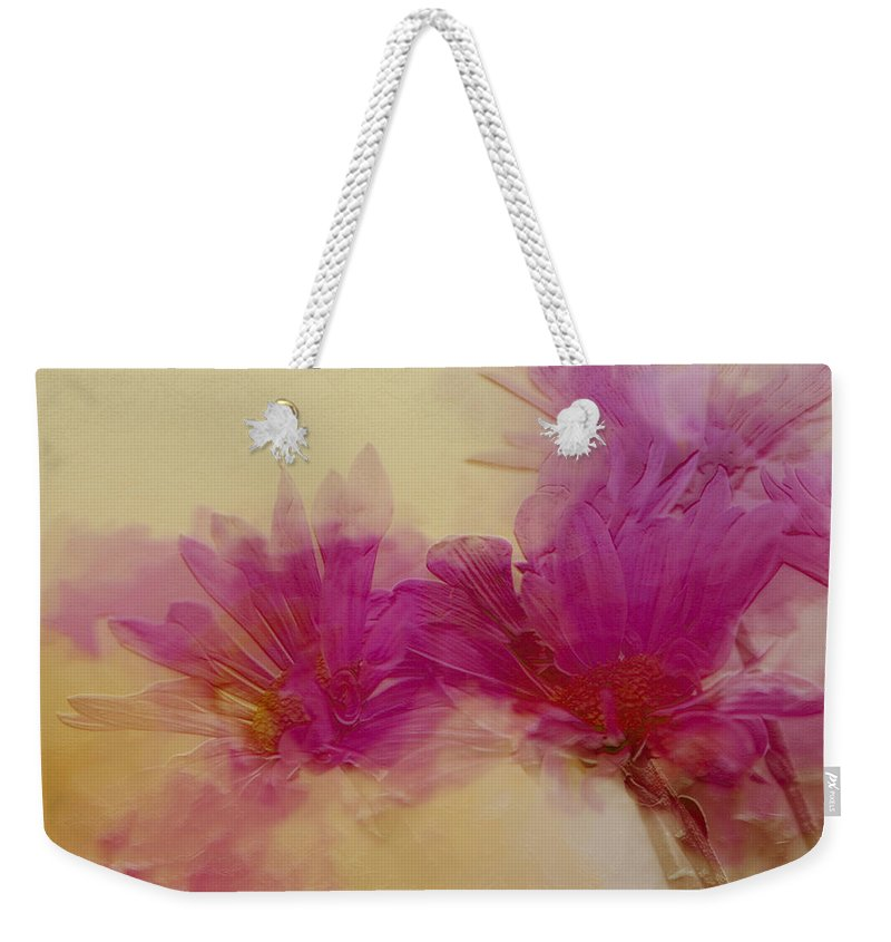 Flowers Weekender Tote Bag featuring the photograph Sundance by Linda Sannuti