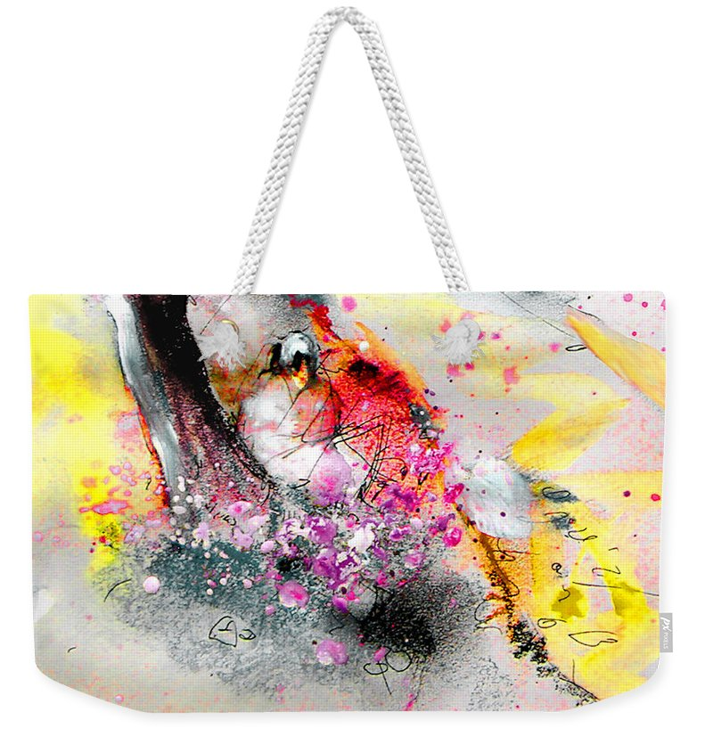 Pastel Painting Weekender Tote Bag featuring the painting Sunday By The Tree by Miki De Goodaboom