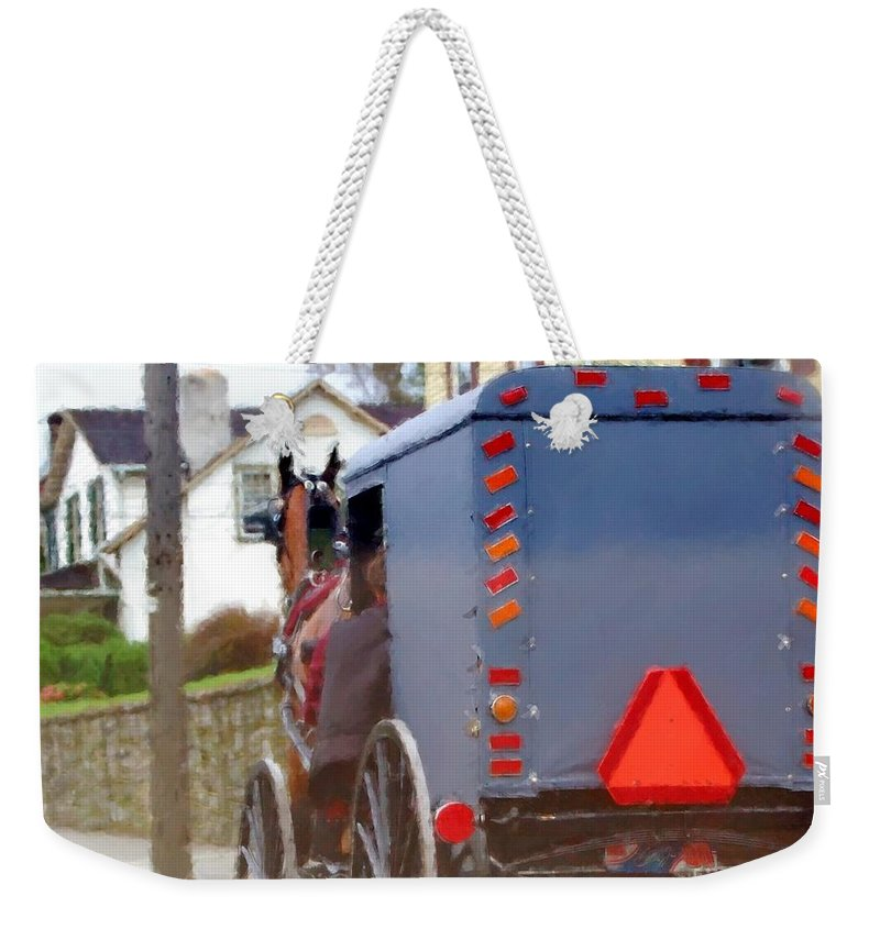 Amish Weekender Tote Bag featuring the photograph Sunday Courting by Debbi Granruth