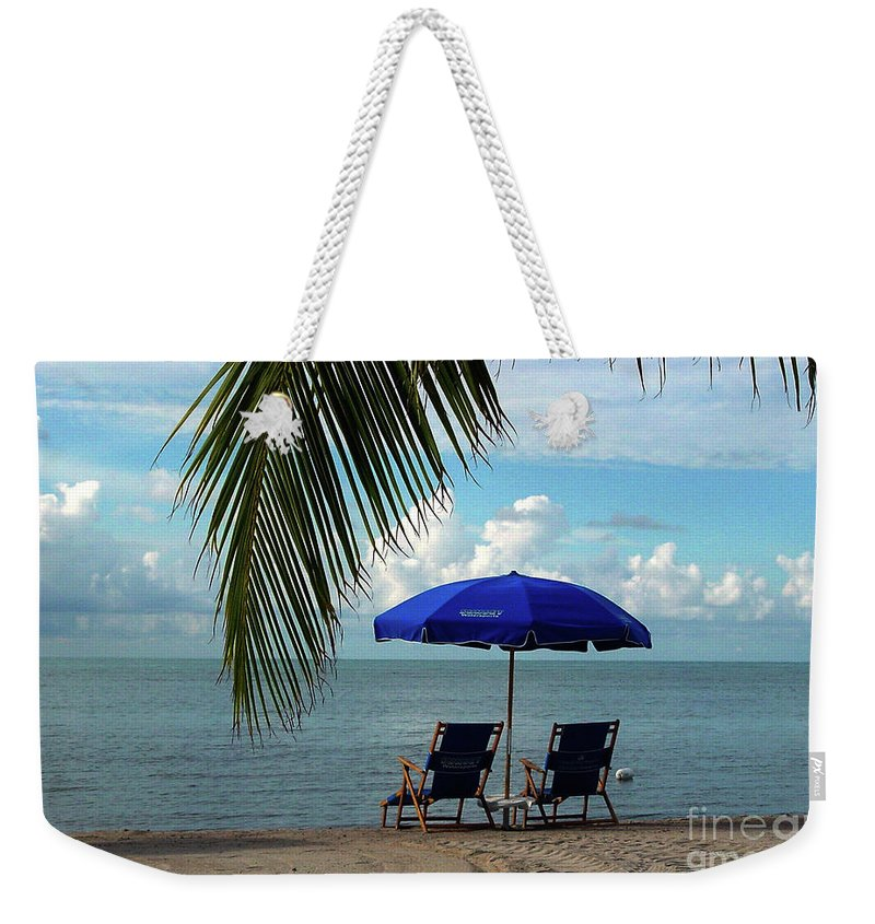 Beach Weekender Tote Bag featuring the photograph Sunday Morning At The Beach In Key West by Susanne Van Hulst