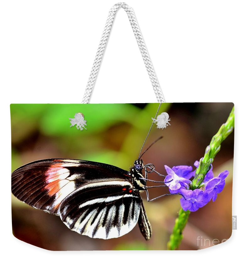 Wings Weekender Tote Bag featuring the photograph Sunday Sip by Lisa Renee Ludlum