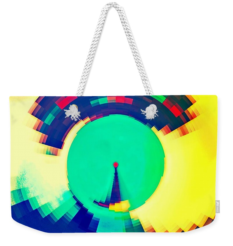 Days Weekender Tote Bag featuring the drawing Sundial Of Emotions by Marie Ward-Alonge