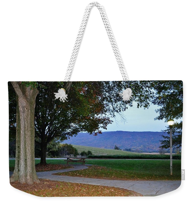 Landscape Weekender Tote Bag featuring the photograph Sundown At Blue Ridge by Eileen Brymer