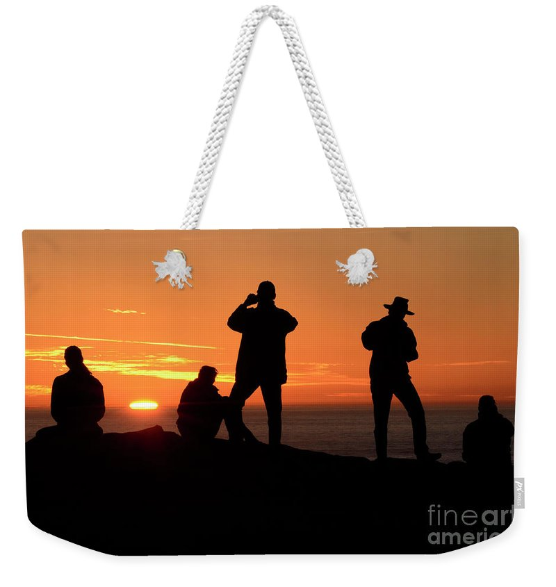 California Weekender Tote Bag featuring the photograph Sundown by Bob Christopher