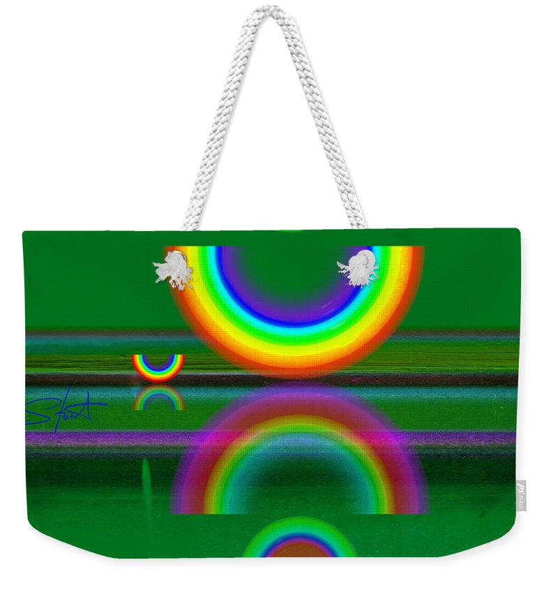 Reflections Weekender Tote Bag featuring the painting Sundown by Charles Stuart