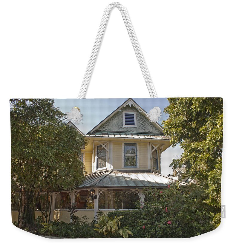Sundy House Weekender Tote Bag featuring the photograph Sundy House by Donna Walsh