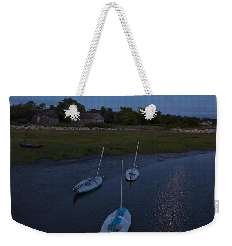 Sunfish Weekender Tote Bag featuring the photograph Sunfishes In Moonlight by Charles Harden