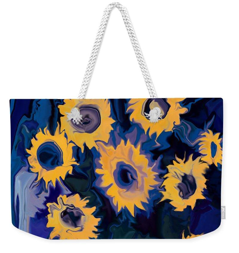 Art Weekender Tote Bag featuring the digital art Sunflower 1 by Rabi Khan