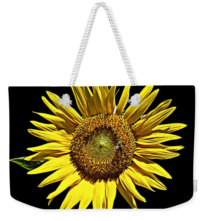 Flower Weekender Tote Bag featuring the photograph Sunflower by Bob Johnson
