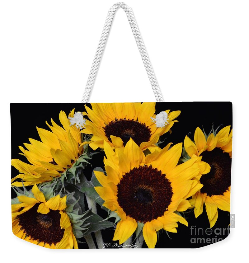 Bloom Weekender Tote Bag featuring the photograph Sunflower Bouquet by Jeannie Rhode
