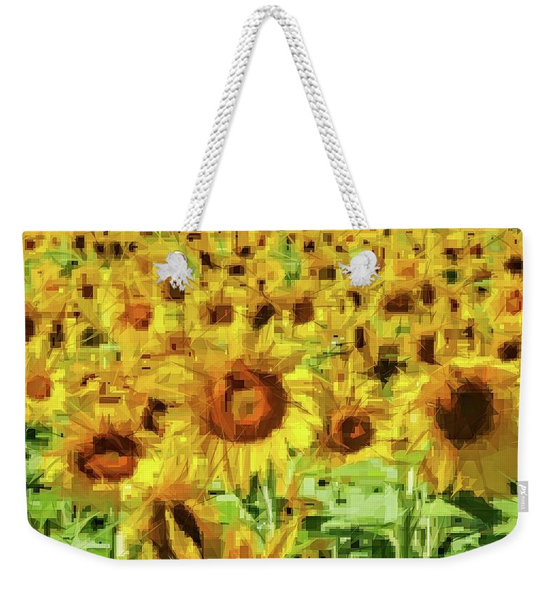 Alicegipsonphotographs Weekender Tote Bag featuring the photograph Sunflower Edges by Alice Gipson