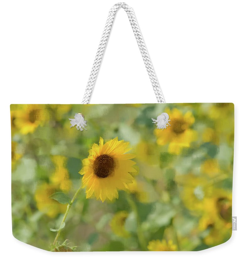 Sunflower Weekender Tote Bag featuring the photograph Sunflower Field by Betty LaRue