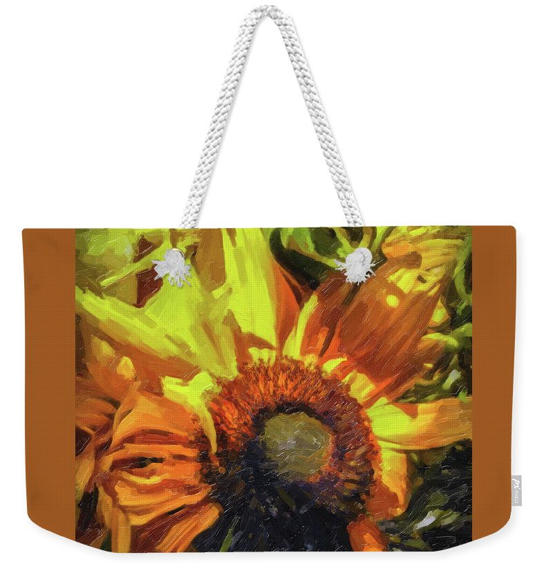Sunflowers Weekender Tote Bag featuring the photograph sunflower No. 1 by Susan Crowell