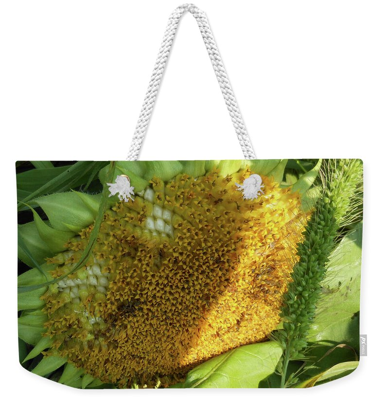 Sunflower Weekender Tote Bag featuring the photograph sunflower No.2 by Susan Crowell