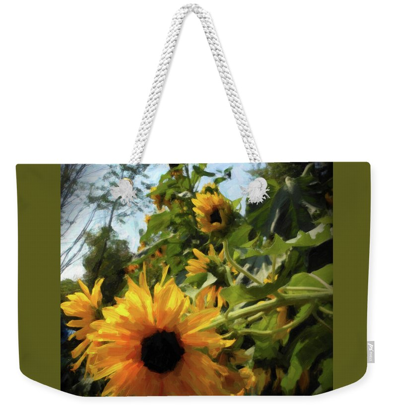 Sunflower Weekender Tote Bag featuring the photograph sunflower No.8 by Susan Crowell