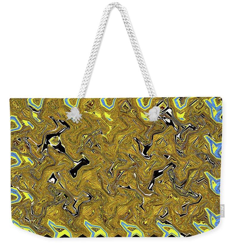 Sunflower Pie Abstract Weekender Tote Bag featuring the digital art Sunflower Pie Abstract by Tom Janca