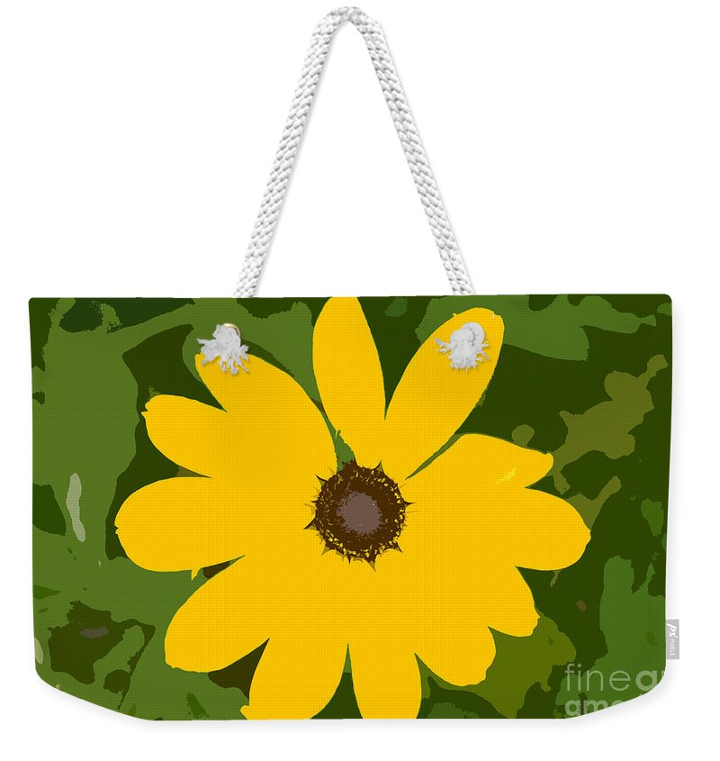 Sunflower Weekender Tote Bag featuring the photograph Sunflower Work Number 3 by David Lee Thompson