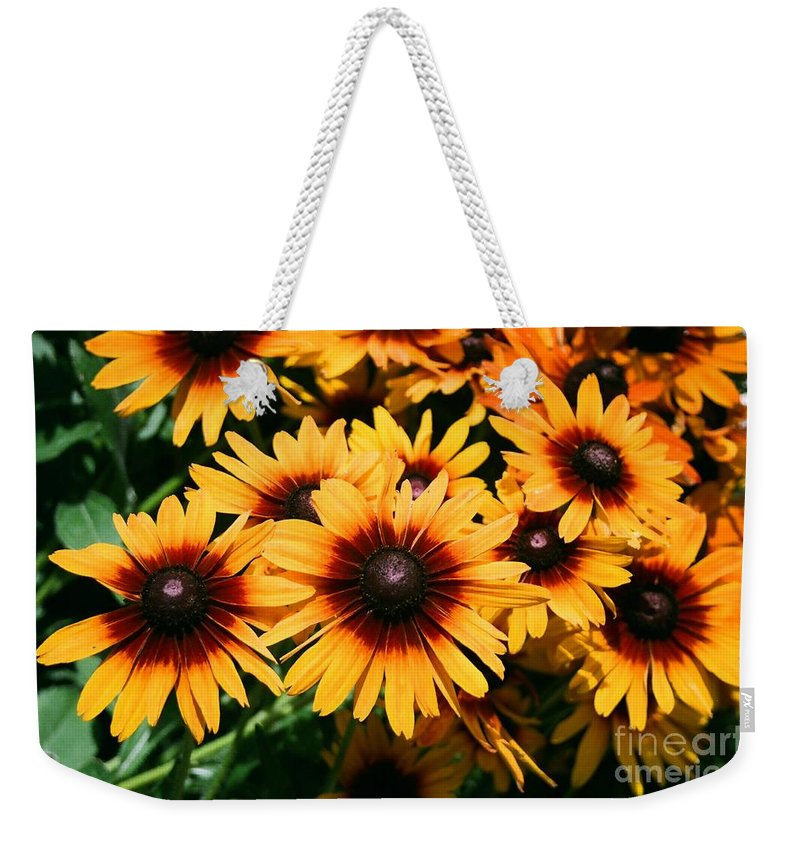 Sunflowers Weekender Tote Bag featuring the photograph Sunflowers by Dean Triolo