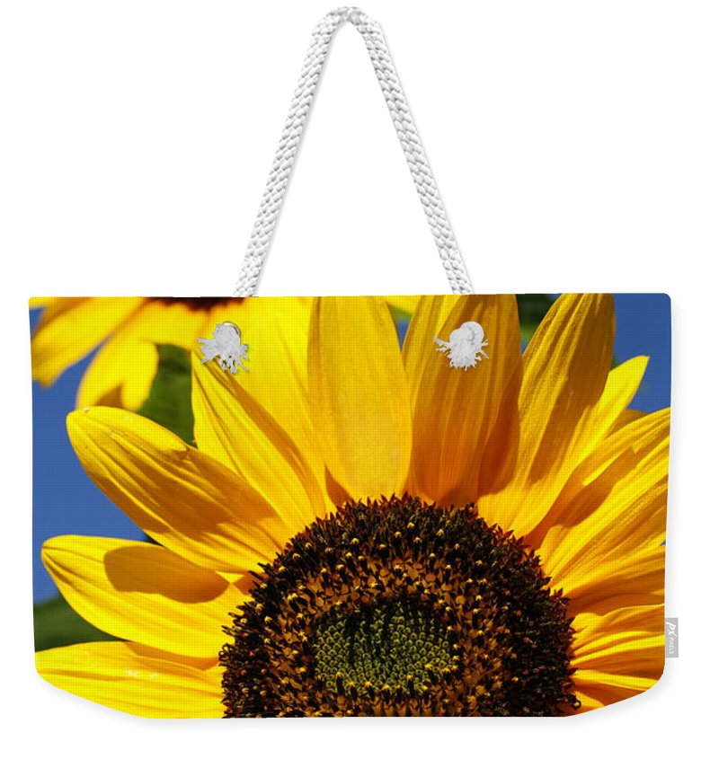 Sunflowers Weekender Tote Bag featuring the photograph Sunflowers by Gaspar Avila