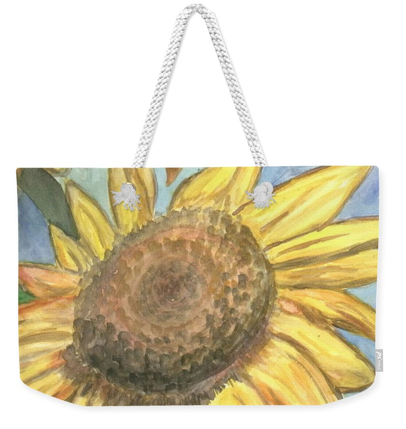 Daisy Weekender Tote Bag featuring the painting Sunflowers by Jacqueline Athmann