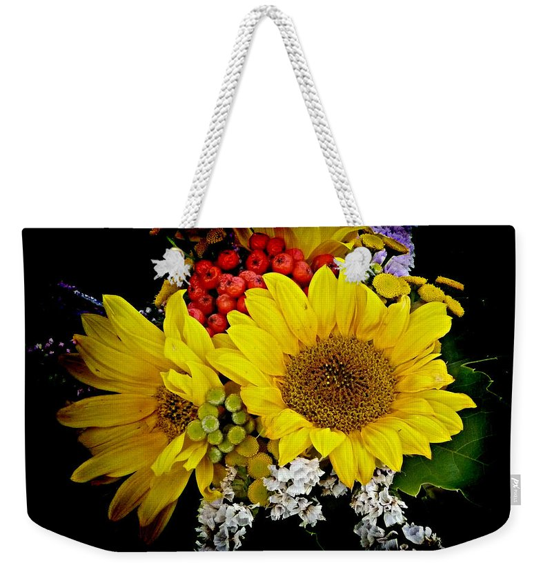 Sunflower Weekender Tote Bag featuring the photograph Sunflowers by Lori Seaman