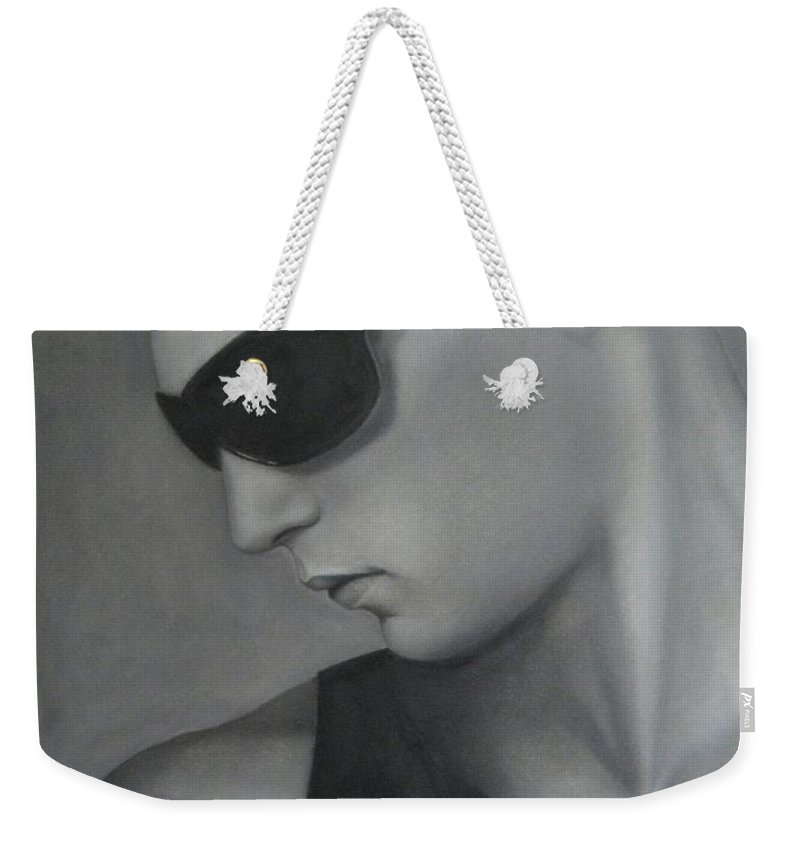 Man Weekender Tote Bag featuring the painting Sunglasses by Lynet McDonald