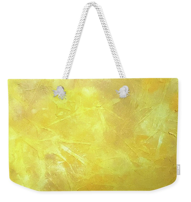 Yellow Weekender Tote Bag featuring the painting Sunlight by Jilian Cramb - AMothersFineArt