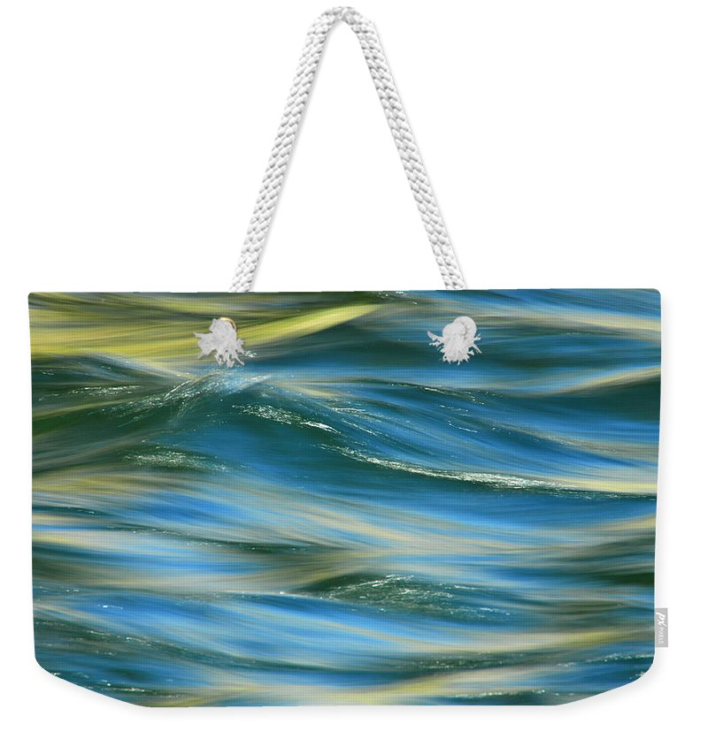 Water Weekender Tote Bag featuring the photograph Sunlight Over The River by Donna Blackhall