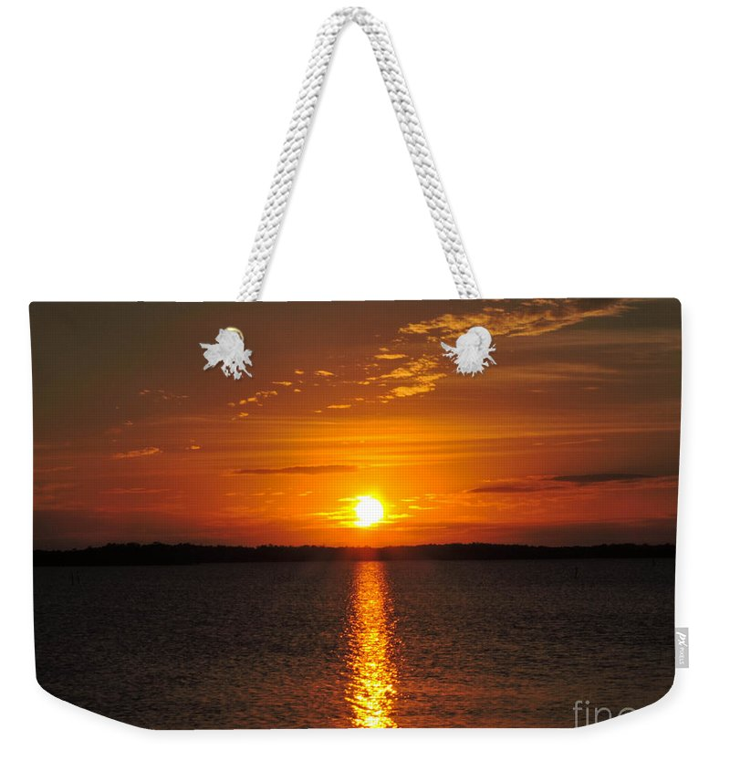 Sunlight Weekender Tote Bag featuring the photograph Sunlight Path by Marilee Noland