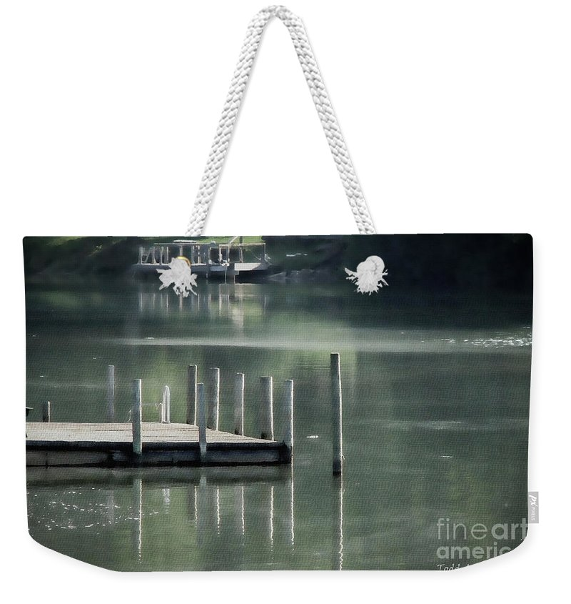 Dock Weekender Tote Bag featuring the photograph Sunlit Dock by Todd Blanchard