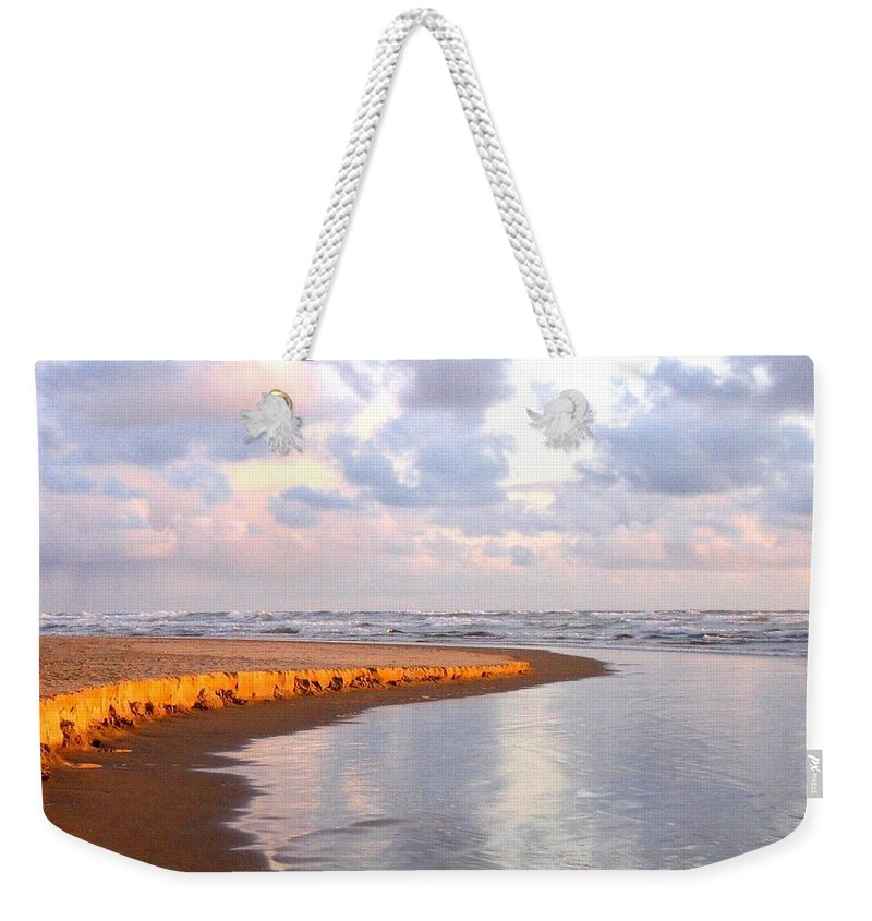 Cannon Beach Weekender Tote Bag featuring the photograph Sunlit Shores by Will Borden