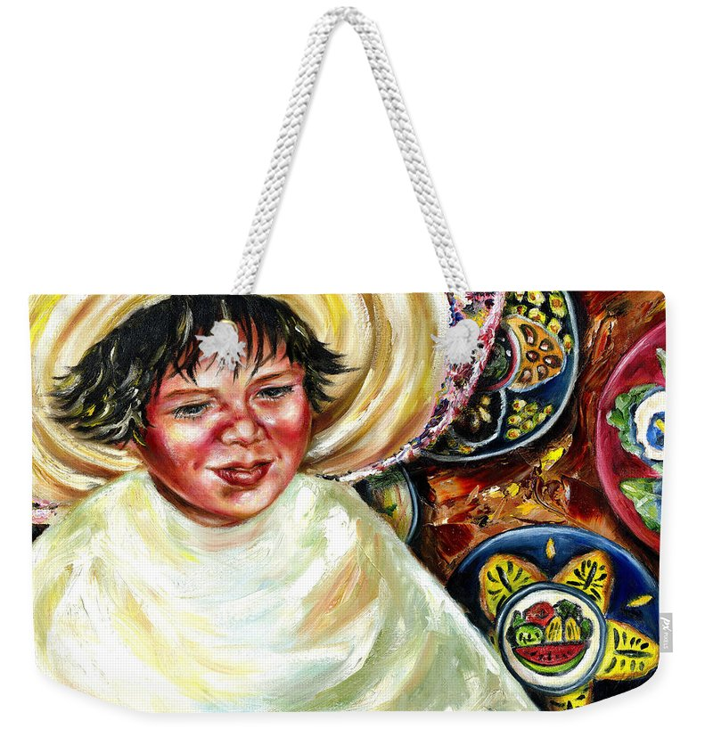 Child Weekender Tote Bag featuring the painting Sunny Day by Hiroko Sakai