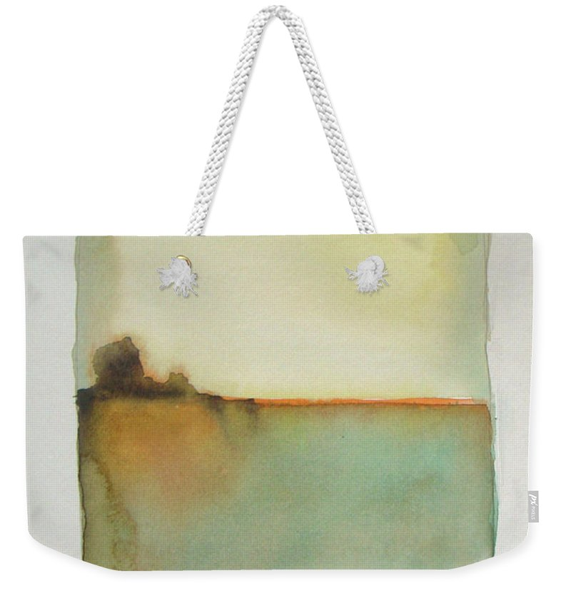 Abstract Weekender Tote Bag featuring the painting Sunny Day by Vesna Antic