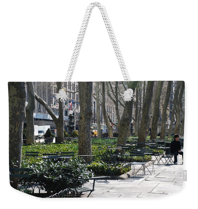 Parks Weekender Tote Bag featuring the photograph Sunny Morning In The Park by Rob Hans