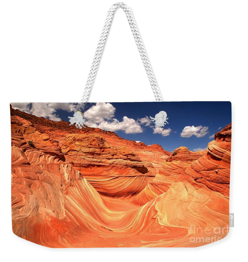 The Wave Weekender Tote Bag featuring the photograph Sunny Northern Arizona Landscape by Adam Jewell