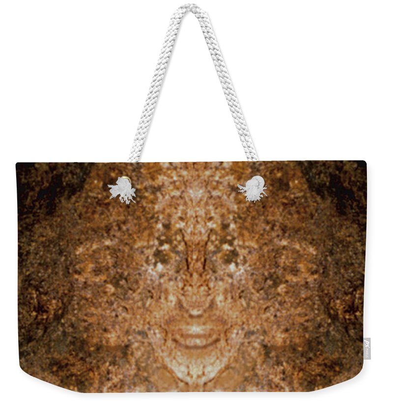 Rocks Weekender Tote Bag featuring the photograph Sunqueen Of Woodstock by Nancy Griswold