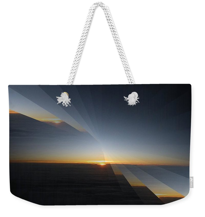 Sunrise Weekender Tote Bag featuring the photograph Sunrise At 30k 4 by Tim Allen