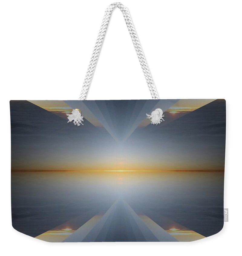 Sunrise Weekender Tote Bag featuring the digital art Sunrise At 30k 5 by Tim Allen