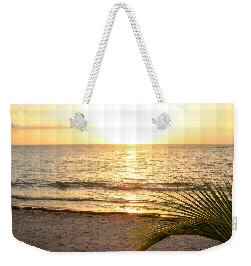 Beach Weekender Tote Bag featuring the photograph Sunrise At Akumal Sur 1 by Christopher Spicer