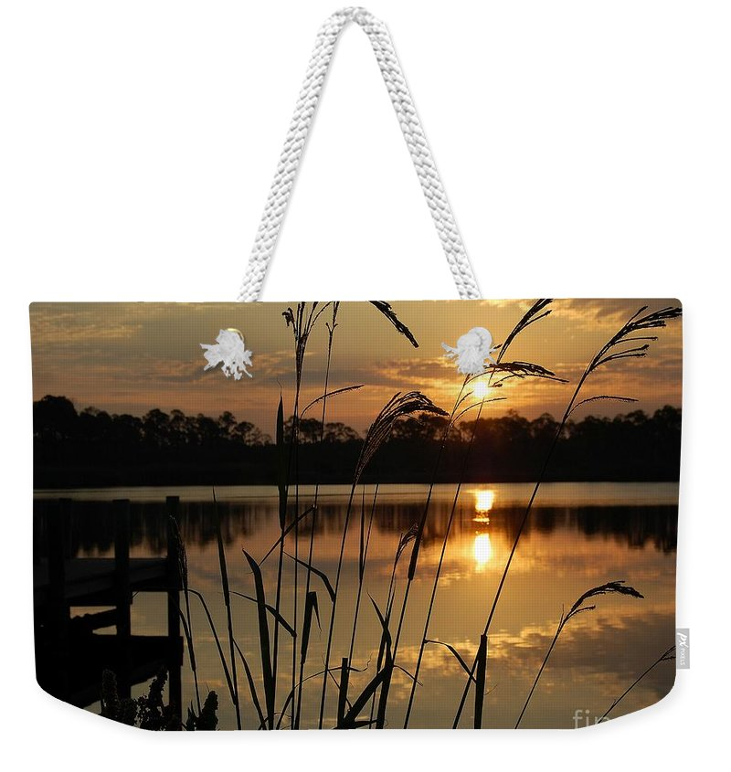 Sunrise Weekender Tote Bag featuring the photograph Sunrise At Grayton Beach by Robert Meanor