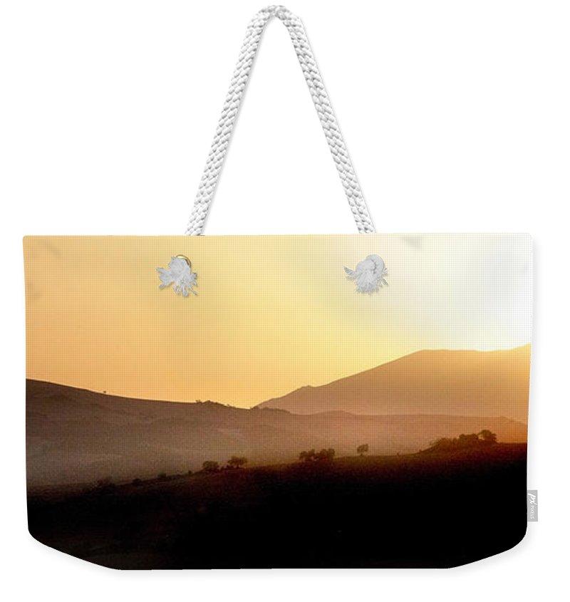 Landscape Weekender Tote Bag featuring the photograph Sunrise At Pastelero Near Villanueva De La Concepcion Malaga Region Spain by Mal Bray