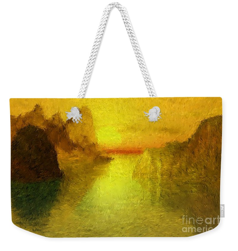 Nature Weekender Tote Bag featuring the digital art Sunrise by David Lane