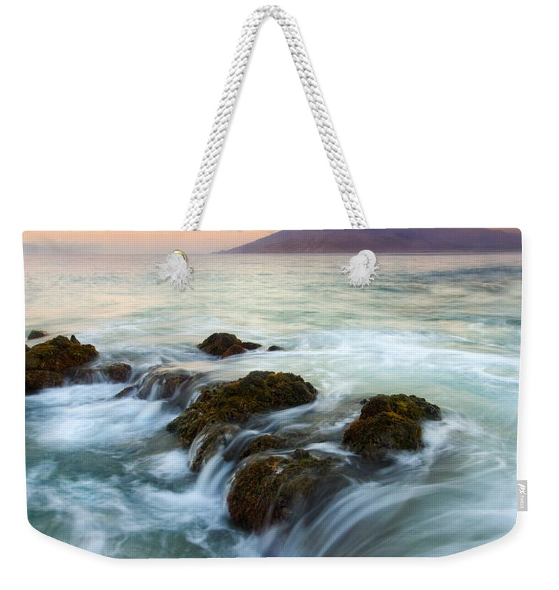 Sunrise Weekender Tote Bag featuring the photograph Sunrise Drain by Mike Dawson