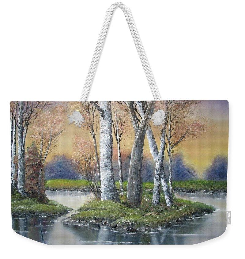 Season Weekender Tote Bag featuring the painting Sunrise Dream by Lisa Cini