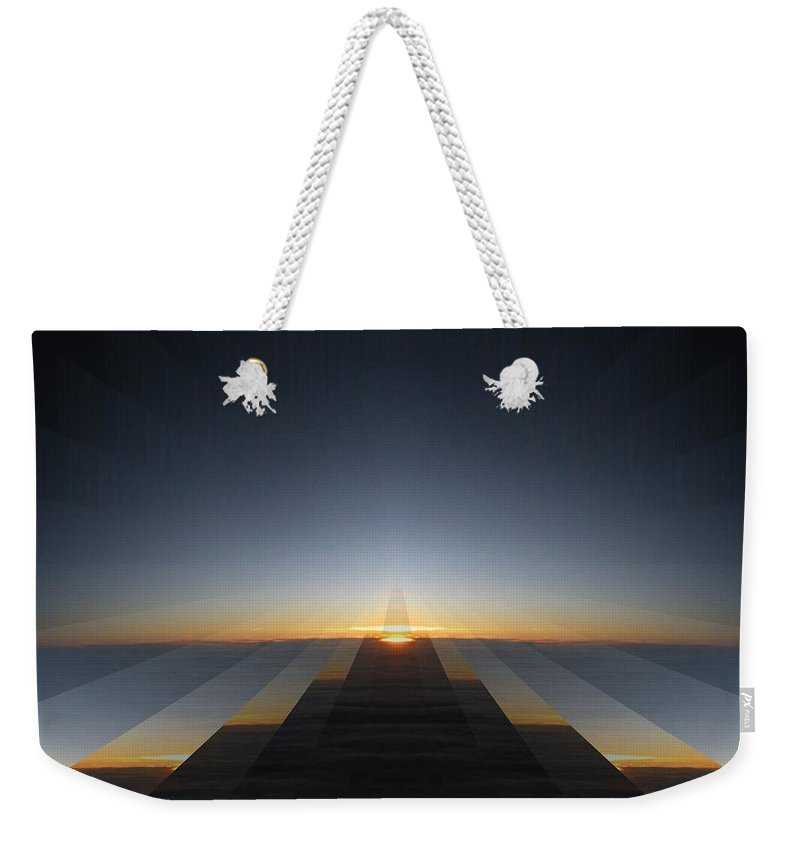 Sunrise Weekender Tote Bag featuring the digital art Sunrise From 30k 3 by Tim Allen