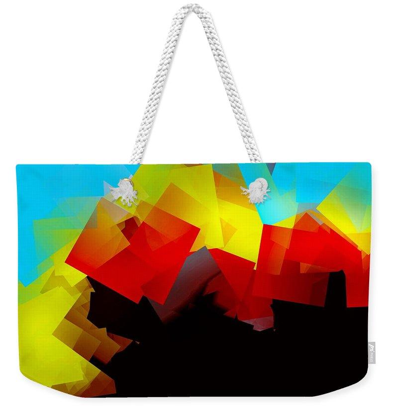Sunrise Weekender Tote Bag featuring the digital art Sunrise by Helmut Rottler