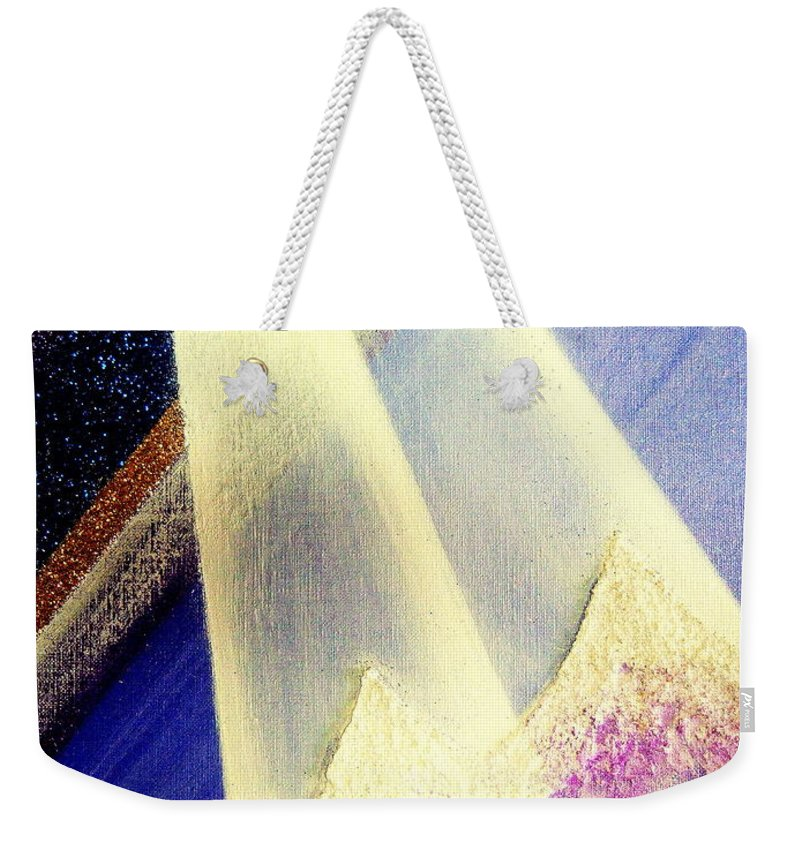 Sunrise Weekender Tote Bag featuring the painting Sunrise In Alpine by Kumiko Mayer