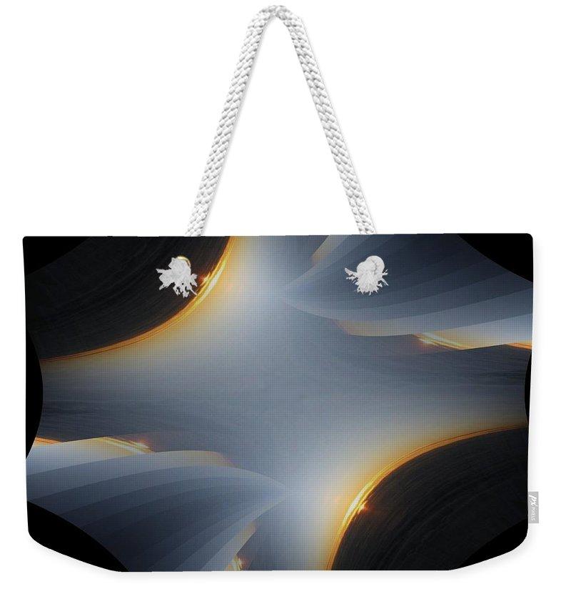 Sunrise Weekender Tote Bag featuring the digital art Sunrise In Fractal by Tim Allen