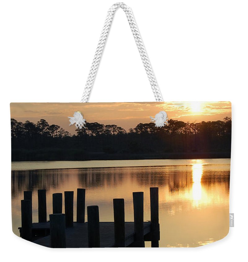Surise Weekender Tote Bag featuring the photograph Sunrise In Grayton Beach II by Robert Meanor